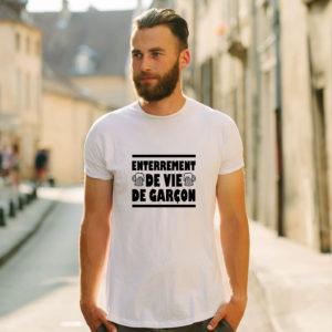 T-shirt en coton bio col rond Homme - Enterrement de Vie de Garçon
