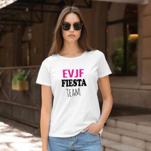 T-shirt en coton bio col rond Femme - EVJF - FIESTA TEAM