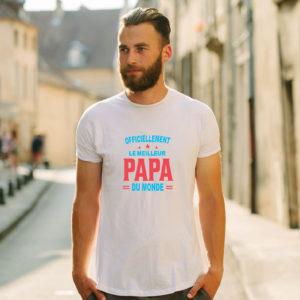 T-shirt en coton bio col rond Homme - Meilleur papa