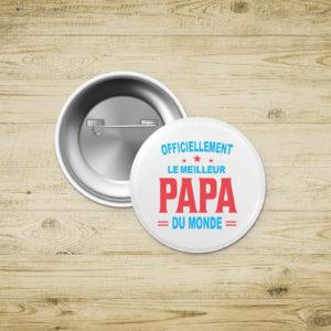 Badges épingle - Meilleur papa