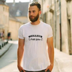 T-shirt en coton bio col rond Homme - Meilleur petit frère